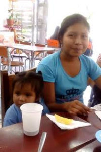 Magali & Juliana are from further down & across the Pastaza river